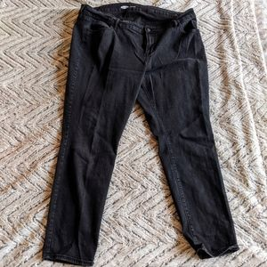 Old Navy Plus Size Black Super Skinny Jeans